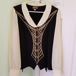 Women's size medium Bob Mackie wearable art blouse